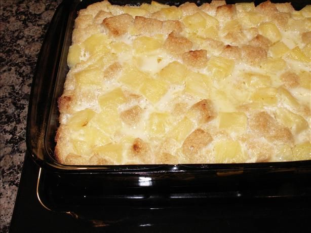 Pineapple Bread Pudding!!  LOW FAT!!