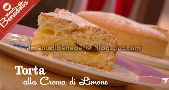 Torta con Crema al Limone (senza latticini) di Benedetta Parodi