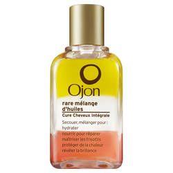 Rare Mélange d'Huiles/Cure Cheveux Intégrale/ OJON Ojon crée cette Cure Cheveux Intégrale qui aide à hydrater, nourrir pour réparer la chevelure, maîtriser les frisottis, protéger contre les effets de la chaleur et révéler la brillance. 45 ml 34,00€