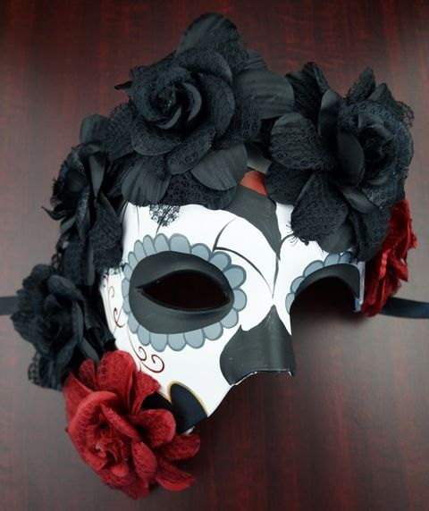 Premium Day Of the Dead Half Mask