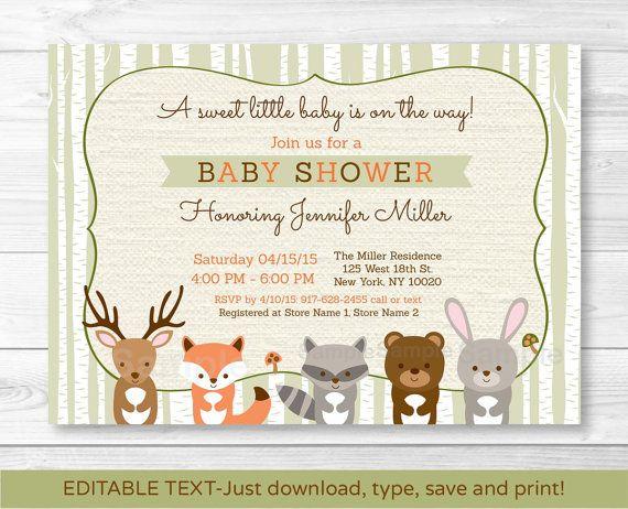 25 best ideas about Baby shower invitation templates – Baby Shower Invitations Free Downloadable Templates