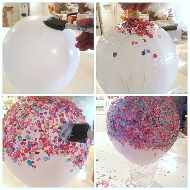 Confetti Bowl using Modge Podge