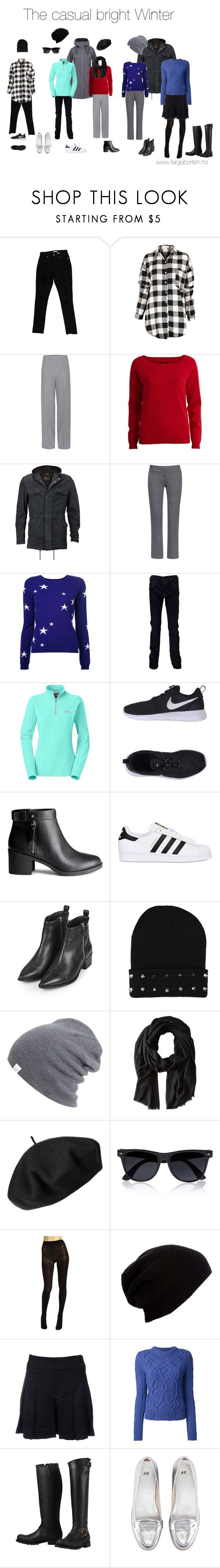 """""""The casual Bright Winter"""" by fargeporten ❤ liked on Polyvore featuring Haider Ackermann, VILA, VIPARO, Tory Burch, Chinti and Parker, STONE ISLAND, The North Face, NIKE, H&M and adidas Originals"""