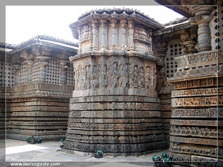 """The Chennakesava Temple was originally called as Vijayanarayana temple. It is located on the river Yagachi at Belur. the former capital of the Hoysala rulers. The city of Belur is around 40 km from the town of Hassan. Chennakesava means """"beautiful Kesava."""" Lord Vishnu is worshiped in this temple. The Chennakesava Temple was conferred as a UNESCO heritage site."""