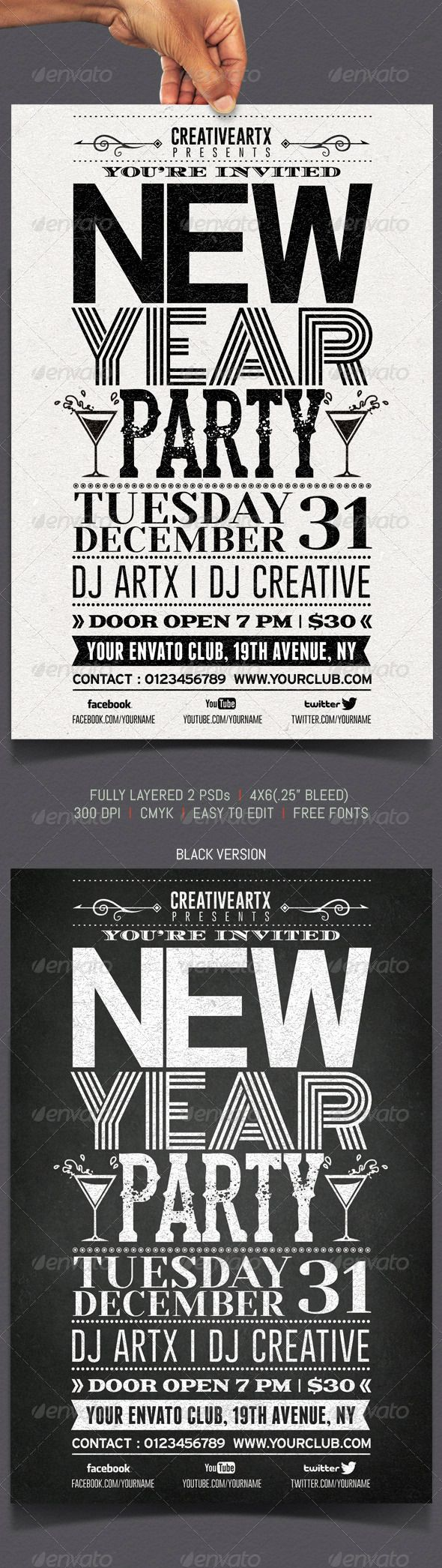 Best Events Images On   Flyer Template Party Flyer