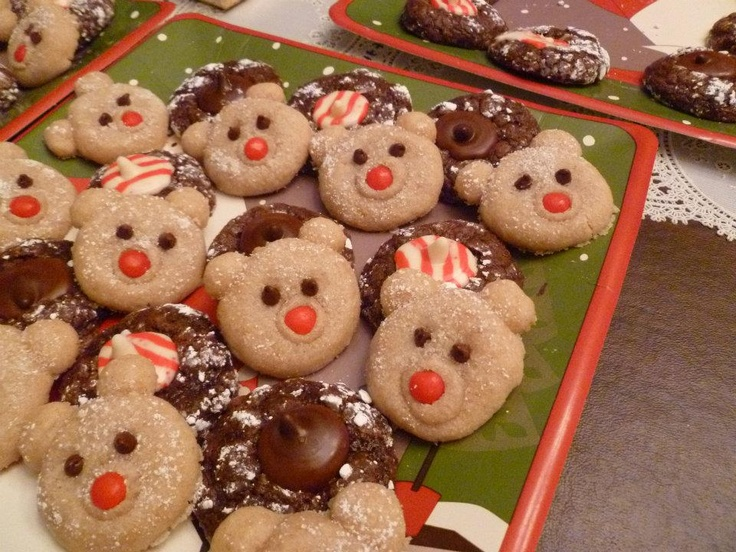 CINNAMON POLAR BEARS: Sugar Cookies, Polar Bears, Cookies Decor, Mini Chocolate Chips, Cinnamon Polar, Minis Chocolates Chips, Fun Ideas, Arctic Crafts Acting, Things