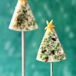 Add fun to Christmas with these super easy to make healthy cheese on stick Christmas pops !!! #foodgawker