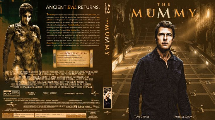 The Mummy 2017 Blu-ray Custom Cover