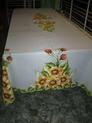 Resultado de imagen para toalhas de mesa de natal pintadas