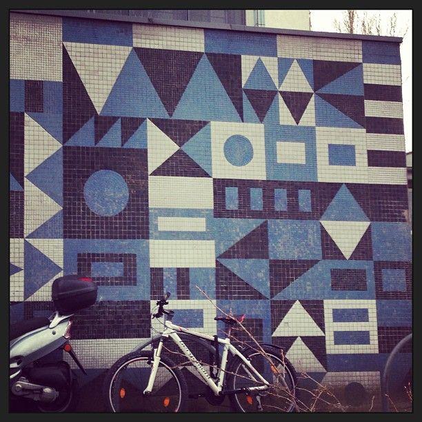 Nice geometric street mosaic #Berlin | Wrap magazine