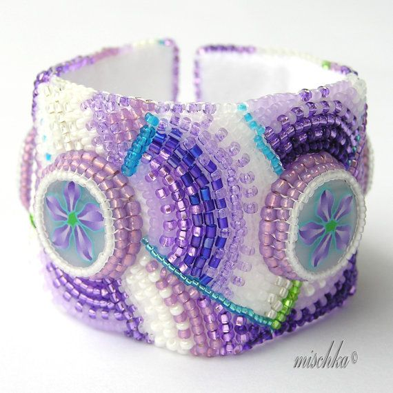 Hey, I found this really awesome Etsy listing at https://www.etsy.com/listing/127417372/bead-embroidered-bracelet-with-violet