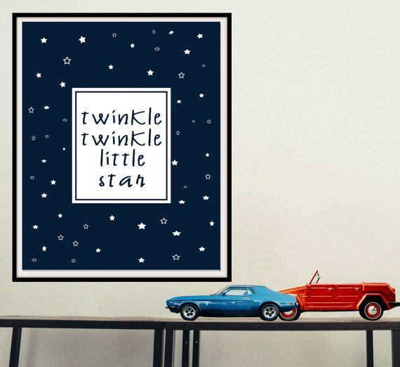 Printable inspirational wall art Twinkle twinkle little star by mntpaperwork