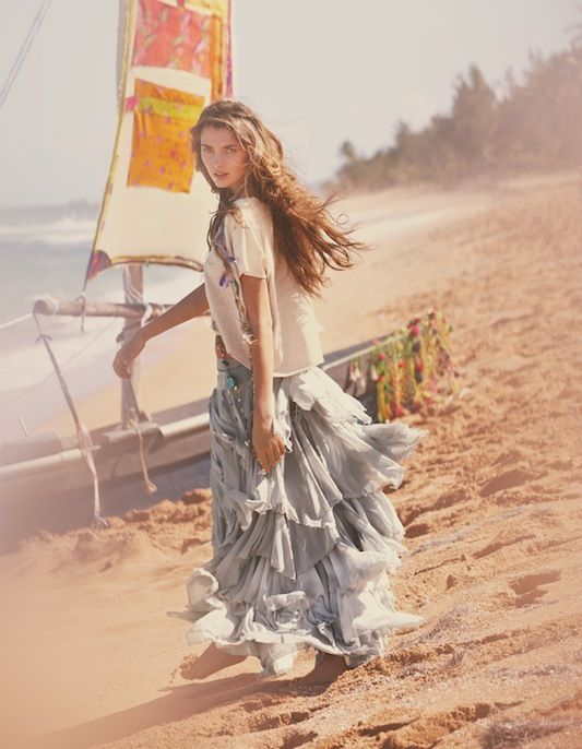 Guy Aroch for Free People: Boho Chic, Fashion, Hippie, Skirts, Summer, Free People, Beach, Bohemian Style