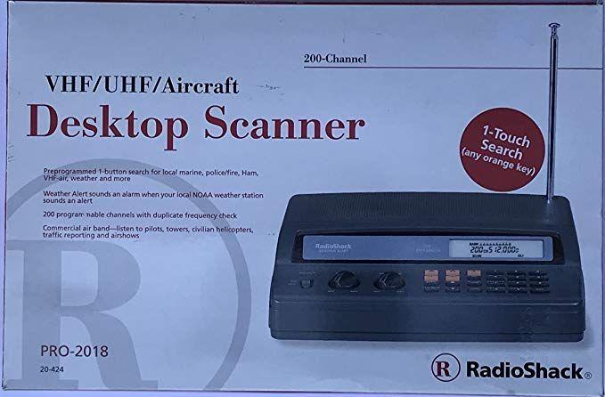 Radio Shack Police Desktop Scanner PRO2018 200 Channel