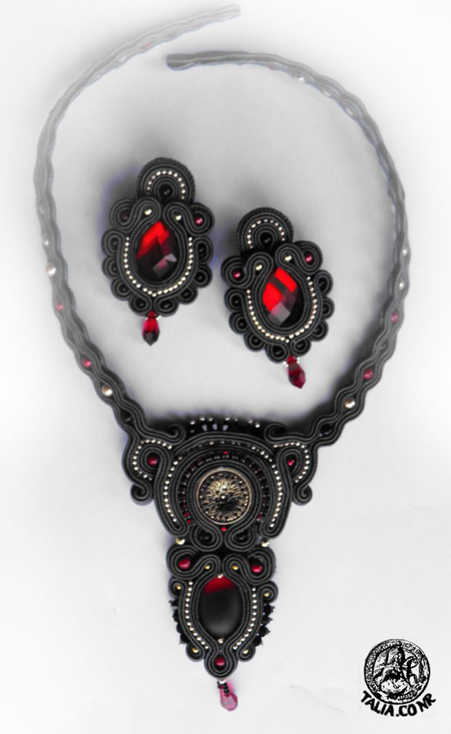 Grey & Red soutache set