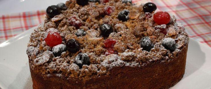 Torta grumos de cerezas - Osvaldo Gross