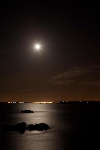 La Baie du Mont Saint Michel, une nuit de pleine lune