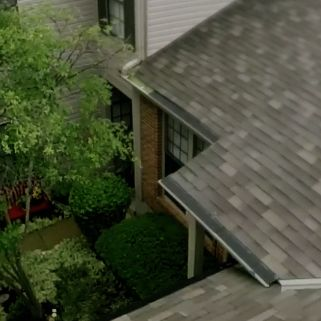 Townhome Trees Gutter Guards Front Door Homeowners Association Agree on Raindrop Gutter Guard