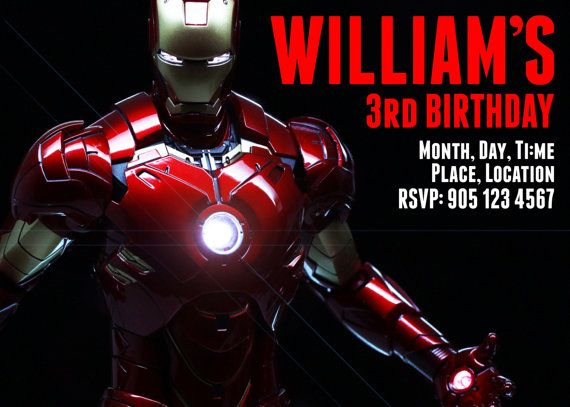 Ironman Birthday Party Invitation Party Ideas Party Invitations