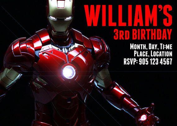 Ironman Birthday Party Invitation Kids Invitations