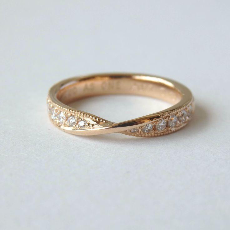 アンティーク調にお仕立てした女性のためのリング  [marriage,wedding,ring,bridal,K18,マリッジリング,結婚指輪,オーダーメイド,ウエディング,ith,イズマリッジ]