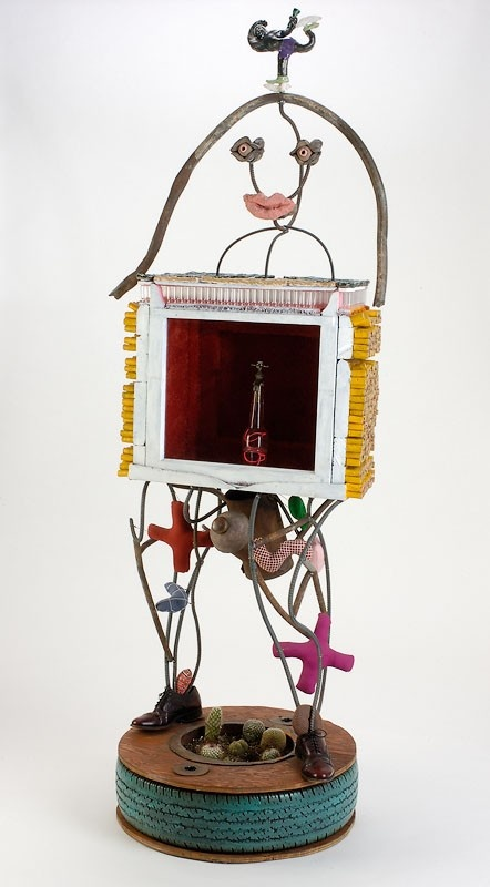 Mr. Saturday Night - one of a kind mixed media sculpture by Tom Franco