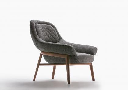 Hanna Armchair with Solid Wooden Frame - Berto Salotti