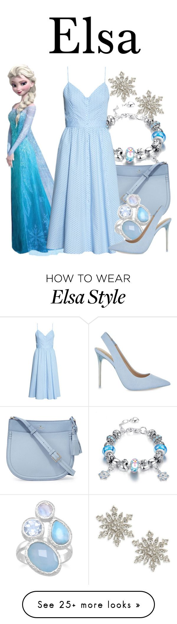 """Elsa"" by megan-vanwinkle on Polyvore featuring Design Lab, Kate Spade, ALDO, disney and polyvoreeditorial"