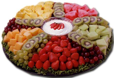 Fruit Tray Ideas to do at home... Easy - for pot luck, birthday, shower, etc. Super Bowl