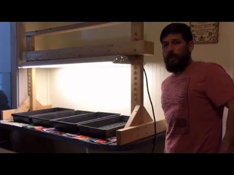 DIY cheap grow light stand out of 2x4 lumber - YouTube