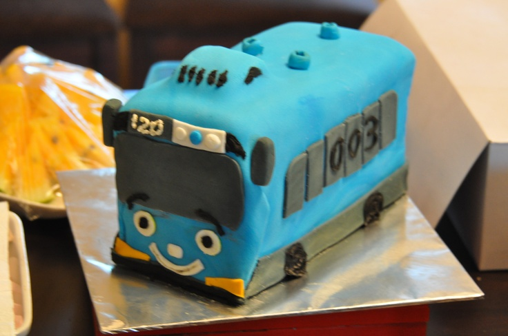 Tayo the Little Blue Bus | My Cakes | Pinterest | Buses ...