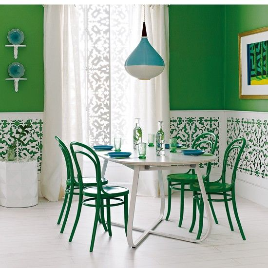 Decorating With Green Dining RoomGreen