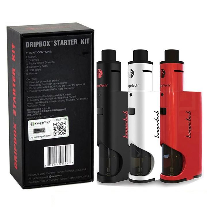 Starter E-CIGARETTES Kangertech Dripbox 60W 7ML TANK DRIP TYPE VAPE CIGARETTE Electronic Hookah Kanger Electronic Cigarette