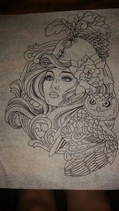 ... tattoos on Pinterest   Athena tattoo Athena goddess and Art nouveau