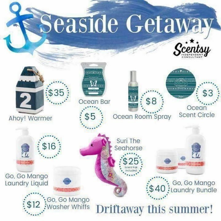 NEW! Scentsy summer collection 2017. Seaside Getaway. www.scentsational99.scentsy.us