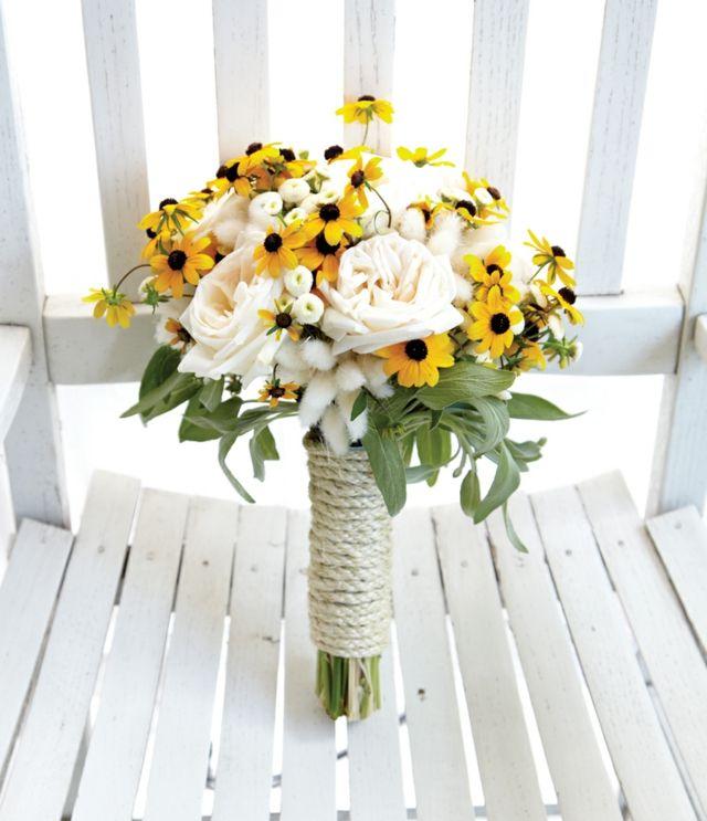 strauß lang gelb weiß blumen rosen