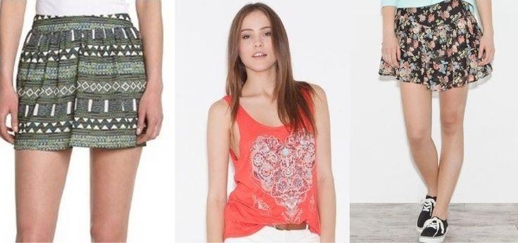 Falda estampado Azteca. COLORBLOCK Amazon; Camiseta con Corazón étnico de SPRINGFIELD; Falda Floral de SPRINGFIELD. www.mascupon.es #moda #verano #florales