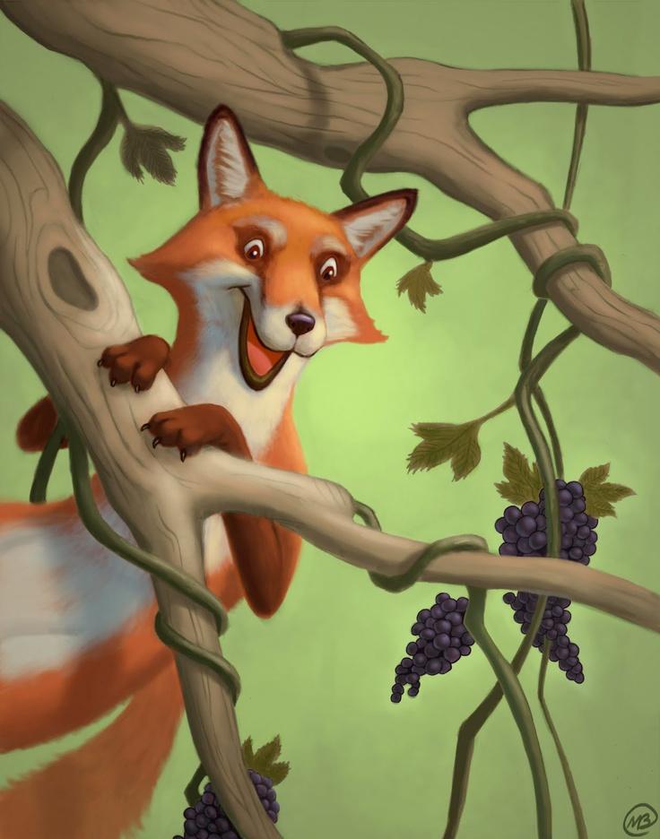 Картинки с лисой и виноградом