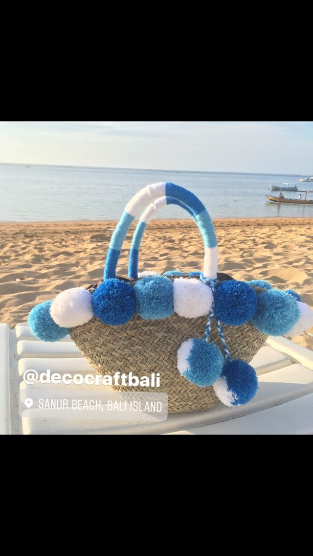 Pompom Beach Bag Contact:  Wa/line 08981388696 Ig: @decocraftbali Website: www.decocraftbali.com Email: decocraftbali@yahoo.com  Its customizable pick your own pom-pom colour based on your preference  #beachbag #taspompom #pompombag #taspantai #pompombasket #basketbag #clutchpompom #pompom #decocraftbali #travelbag #travel #fashion #strawbag #handbag #handmadebag #travel #bali #taveltobali #balilife #balibeach#trend #fashionblogger #fashionbag ##sunday #pantai #sanur #summer #strawbag