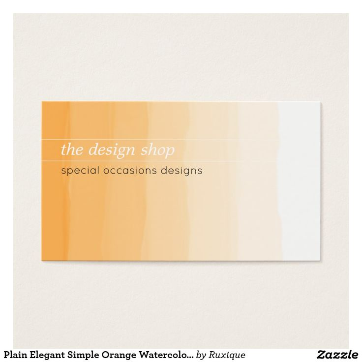 Plain Elegant Simple Orange Watercolor Pastel #Business #Card #Plain #Elegant #Simple #Orange #Watercolor #Pastel