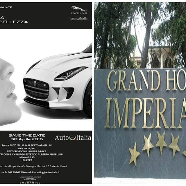 When tecnology meets beauty.Amazing event last Saturday in Forte Dei Marmi at the Grand Hotel Imperiale by Alberto Armellini Beauty & Skin Health and Jaguar Autoitalia.More photos and videos coming soon. #jaguar #albertoarmellinibeauty #AAbeauty #armellinibeauty #event #fortedeimarmi #tuscany #spa #luxury #beauty #hotel #luxuryblogger #bbloggers #instabeauty #luxurylife #elegant #glam #skincare #love #nofilter #skin #versilia #lux #skinhealth #beautiful #cosmetics