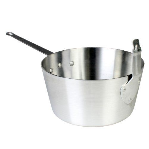 Thunder Group 10 Quart Fryer/Sauce Pan by Thunder Group. $29.63. Commerical grade. Mirror finish. Riveted handle and extended stem catcher. Extended stem catcher arm to hold fry basket in place. 10 quart fryer sauce pan. 10 Quart fryer/sauce pan. Evenly leveled aluminum fryer/sauce pan with mirror finish. Compatible with some fry baskets. Riveted handle and stem catcher. Extended stem catcher arm to hold fry basket in place. Note: ALSF001(5.5 Quart fry sauce pan) and A...