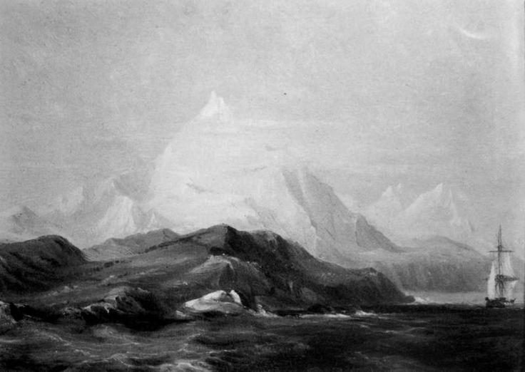 Conrad Martens: The Beagle off Tierra del Fuego, 1838
