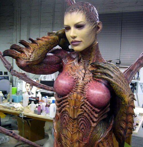 escultura espectacular de kerrigan - starcraft