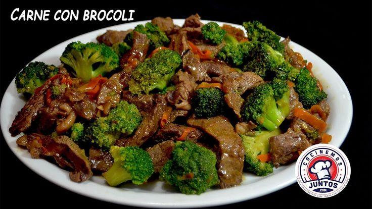 Una rica comida china, carne con brocoli, facil de hacer en tu casa. Espero la prepares y disfrutes esta rica comida. me puedes seguir por mis redes sociales...