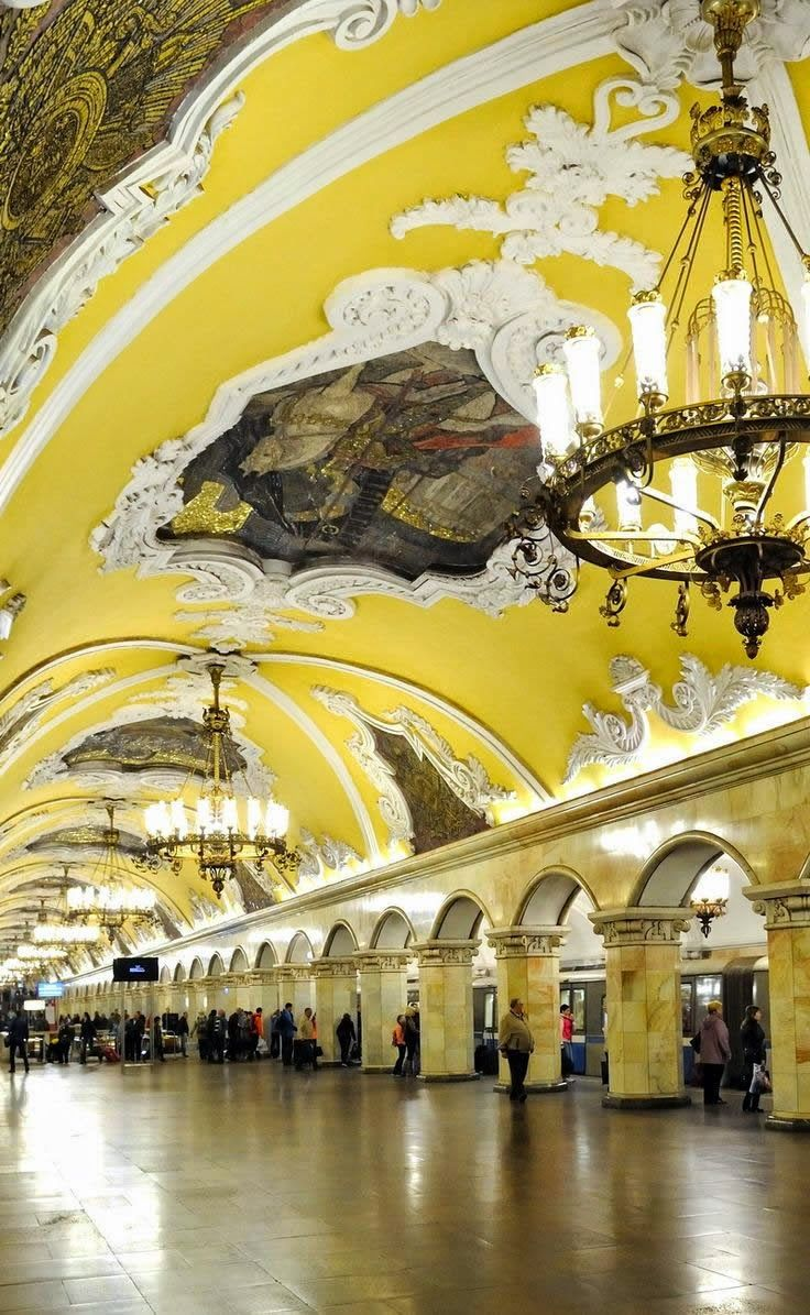 The Most Inspiring Metro Stations around the World, Komsomolskaya Station, Moscow (Russia)