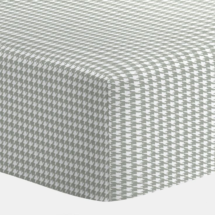 Cloud Gray Houndstooth Crib Sheet Carousel Designs Our Ed Sheets Feature Deep Pockets