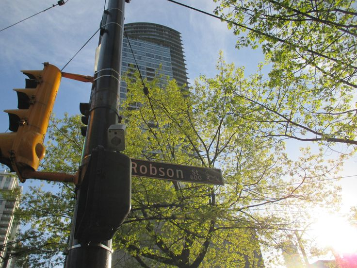 Robson street, Downtown, Vancouver, BC, Canada, Early Summer