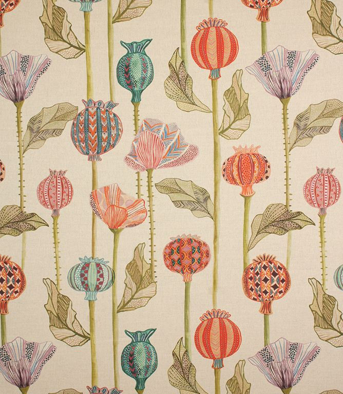 Made from a linen/cotton mix, this modern curtain fabric looks fantastic when made into full length curtains, to emphasise the bold pattern design. This fabric has a chunky base cloth.