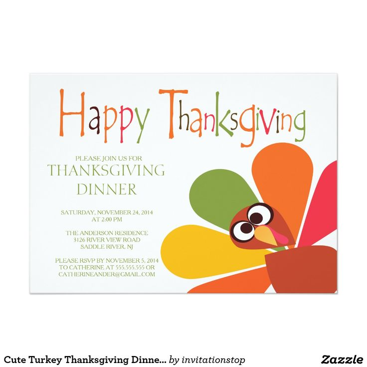 157 best Thanksgiving Party Invitations images – Thanksgiving Party Invite